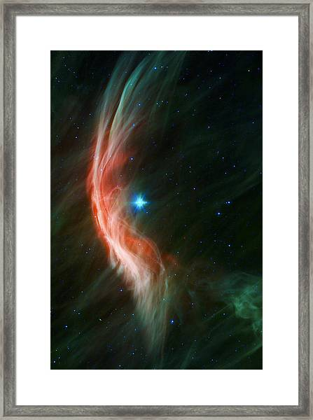 Massive Star Makes Waves Framed Print