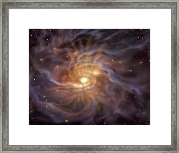Massive Starbirth Region Framed Print