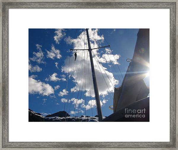 Mast And Sky Framed Print