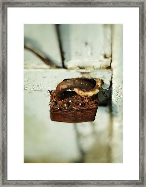 Master Lock Framed Print
