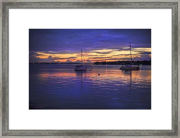 Matanzas Bay Sunrise Framed Print