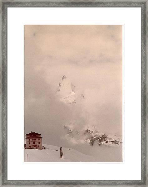 Matterhorn Circa 1970 Framed Print