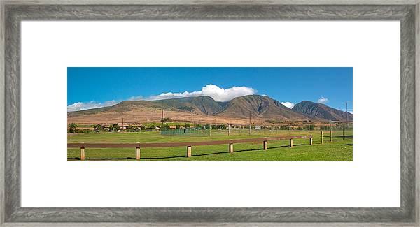 Maui Hawaii Mountains Near Kaanapali   Framed Print