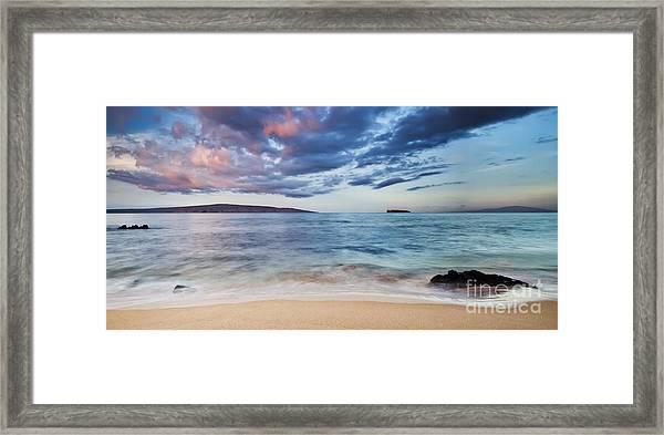Maui Sunrise With Kahoolawe Molokini And Lanai Framed Print