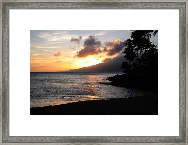 Maui Sunset - Napilli Beach Framed Print