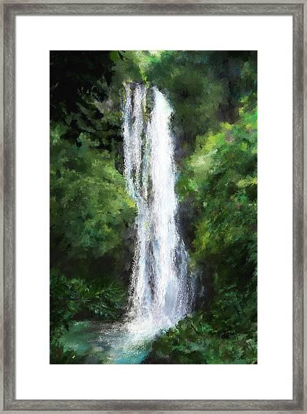 Maui Waterfall Framed Print