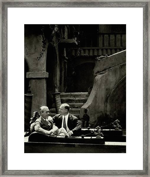 Mauritz Stiller And Emil Jannings On A Gondola Framed Print