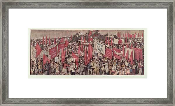 May Day In Trafalgar Square, London, 1938 Framed Print