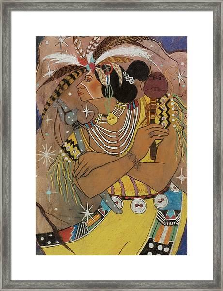 Mayan Ceremonial Dance Framed Print by Pamela Mccabe