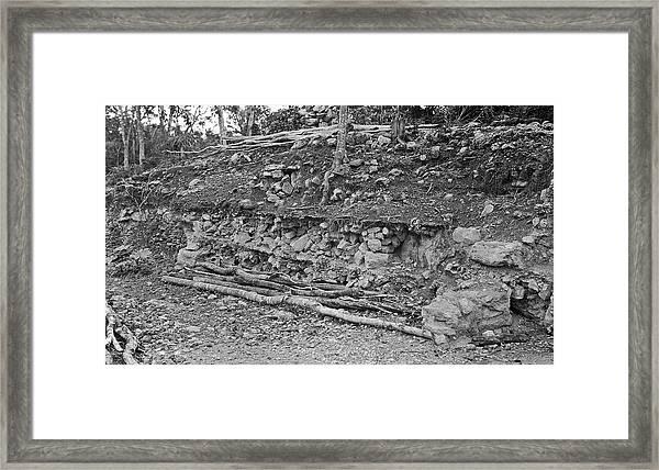 Mayan Excavation Site Framed Print