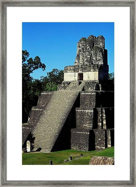 Mayan Ruins - Tikal Guatemala Framed Print