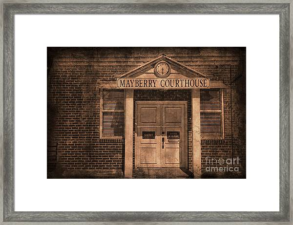 Mayberry Courthouse Framed Print