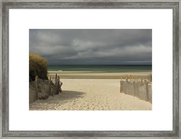 Mayflower Beach Storm Framed Print