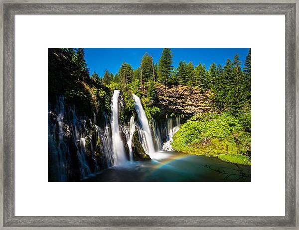 Mcarthur Burney Falls Framed Print