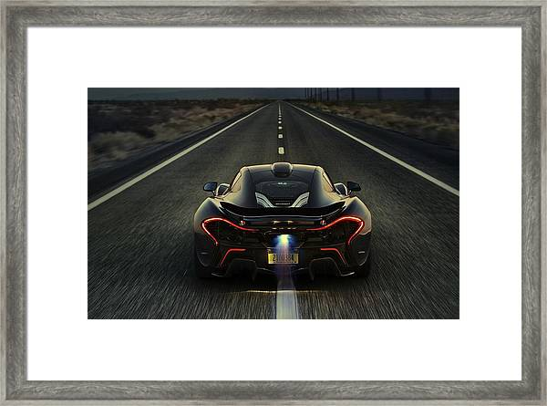 Mclaren P1 2014 Framed Print