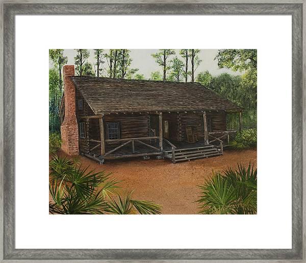 Mcmullen Log Cabin Framed Print