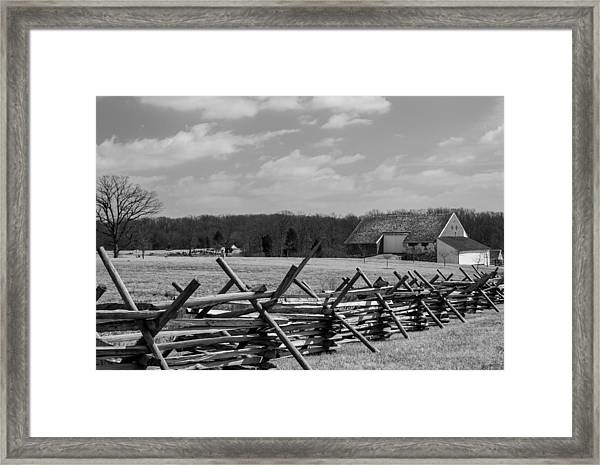 Mcpherson's Barn At Gettysburg Framed Print