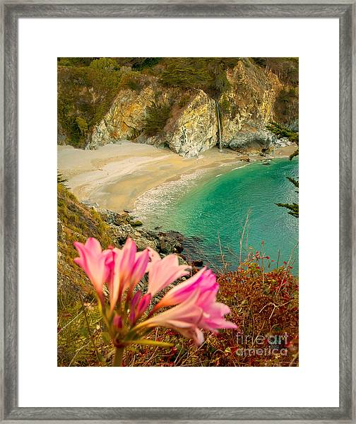Mcway Falls-3am Adventure Framed Print