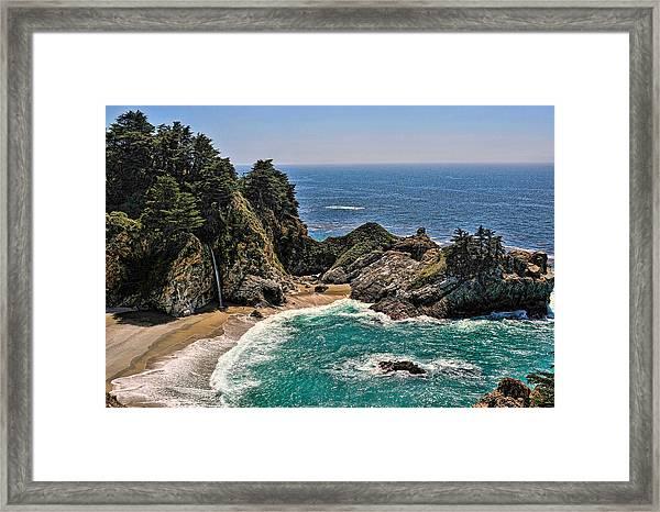Mcway Falls Beach Framed Print
