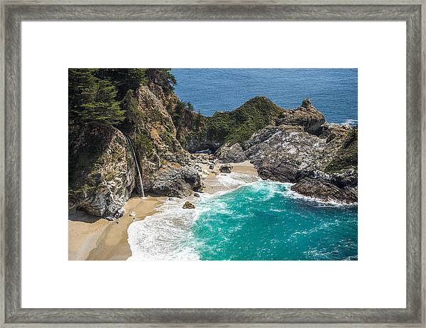 Framed Print featuring the photograph Mcway Falls Big Sur by Priya Ghose