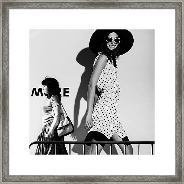 Me And My Expectations Framed Print