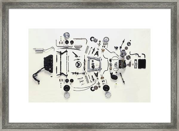 Mechanical Components Framed Print by Dorling Kindersley/uig
