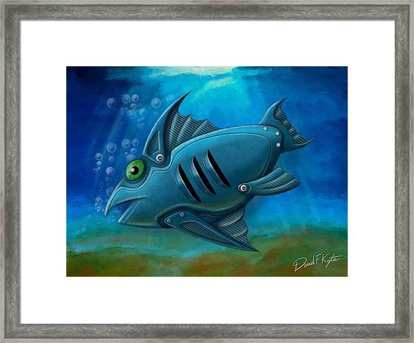 Mechanical Fish 4 Framed Print by David Kyte