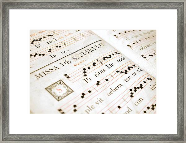 Mediavel Chorus Book  Framed Print