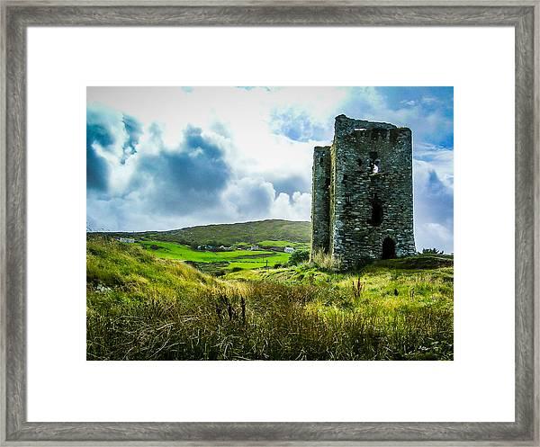 Medieval Dunmanus Castle On Ireland's Mizen Peninsula Framed Print