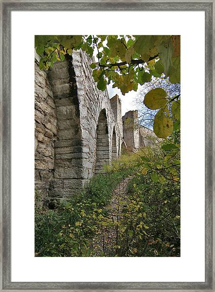 Medieval Town Wall Framed Print