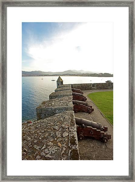 Medieval Walled Fort Framed Print