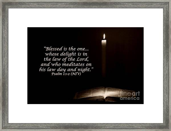 Meditates Day And Night Framed Print