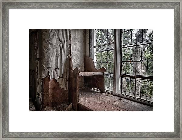 Meditation Corner Framed Print