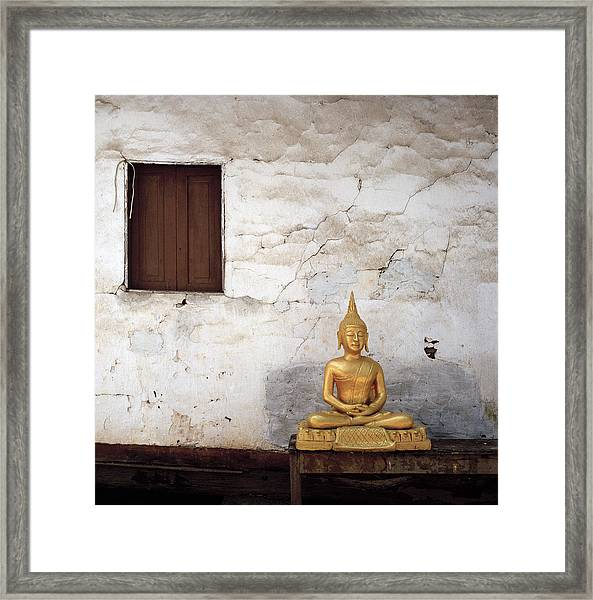 Meditation In Laos Framed Print