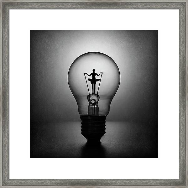 Meditation. The Inner Light. Framed Print