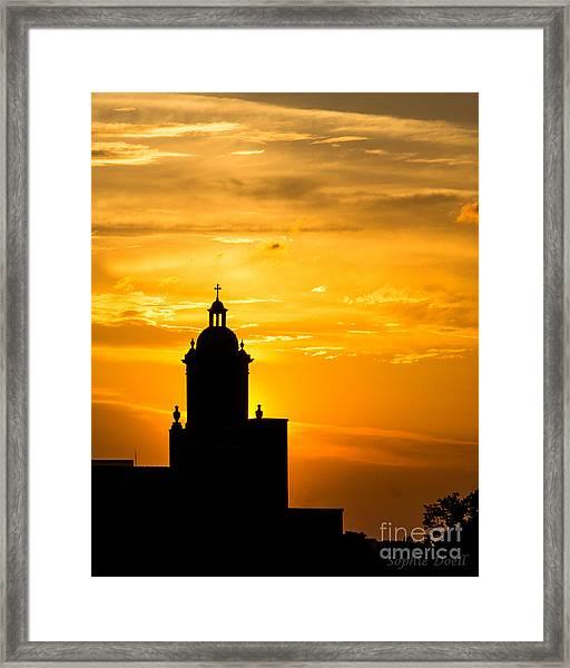 Meditative Sunset Framed Print