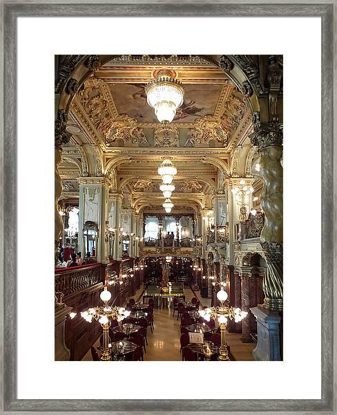 Meet Me For Coffee - New York Cafe - Budapest Framed Print