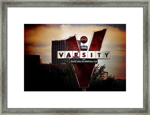 Meeting At The Varsity - Atlanta Icons Framed Print