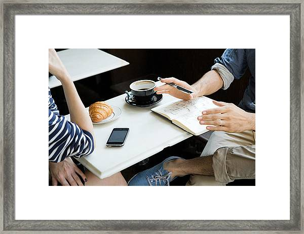 Meeting Over Coffee Framed Print by Image Source