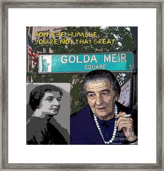 Meir Quote Framed Print