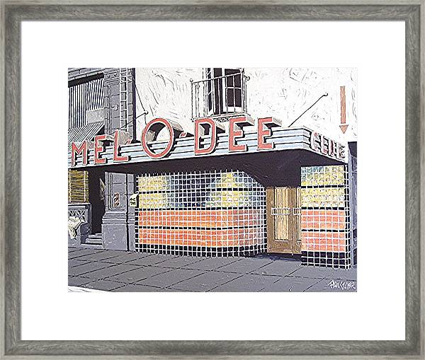 Mel O Dee Club Framed Print by Paul Guyer