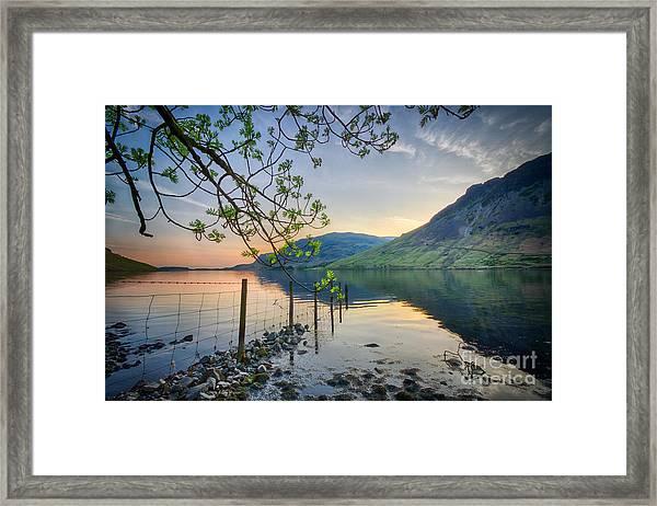 Melancholy Of Sunset Framed Print