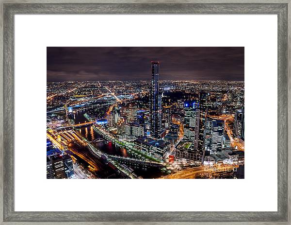 Melbourne At Night IIi Framed Print