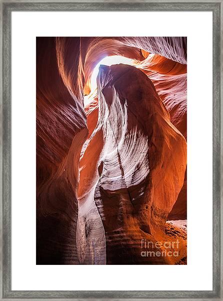 Slotted Light  Framed Print