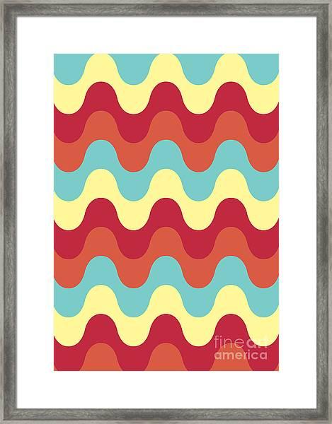 Melting Colors Pattern Framed Print