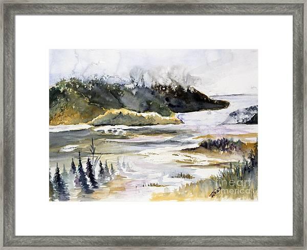 Melting Glacier Framed Print