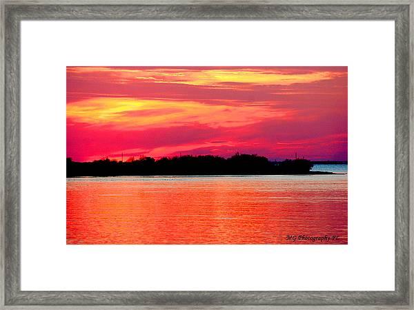 Melting Sky  Framed Print