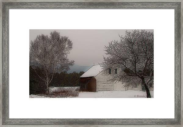 Melvin Village Barn Framed Print