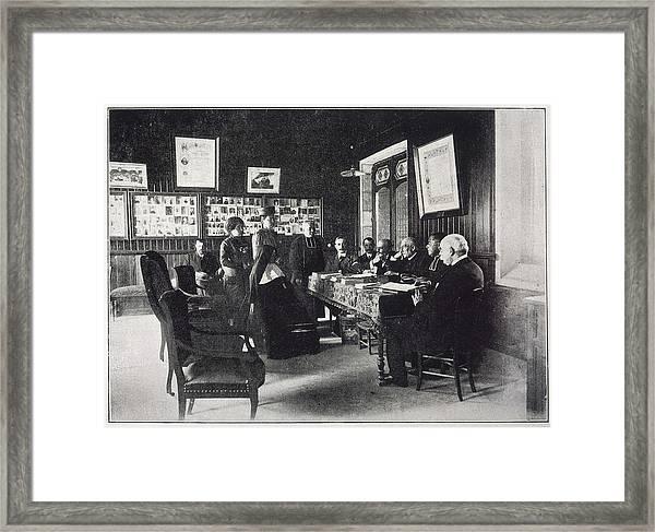 Members Of Le Bureau Des  Constatations Framed Print