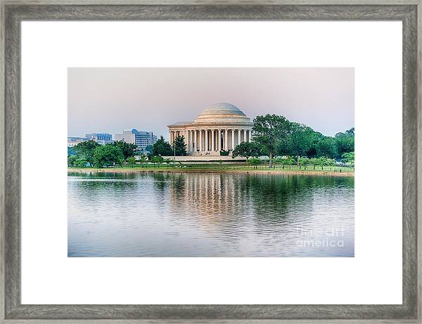 Memorial Sunset Framed Print